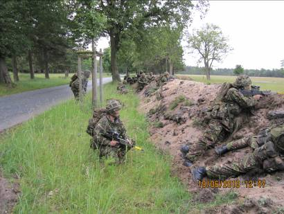 basic utilisation and command of an infantry platoon